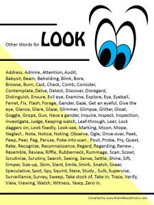 Other Words for LOOK