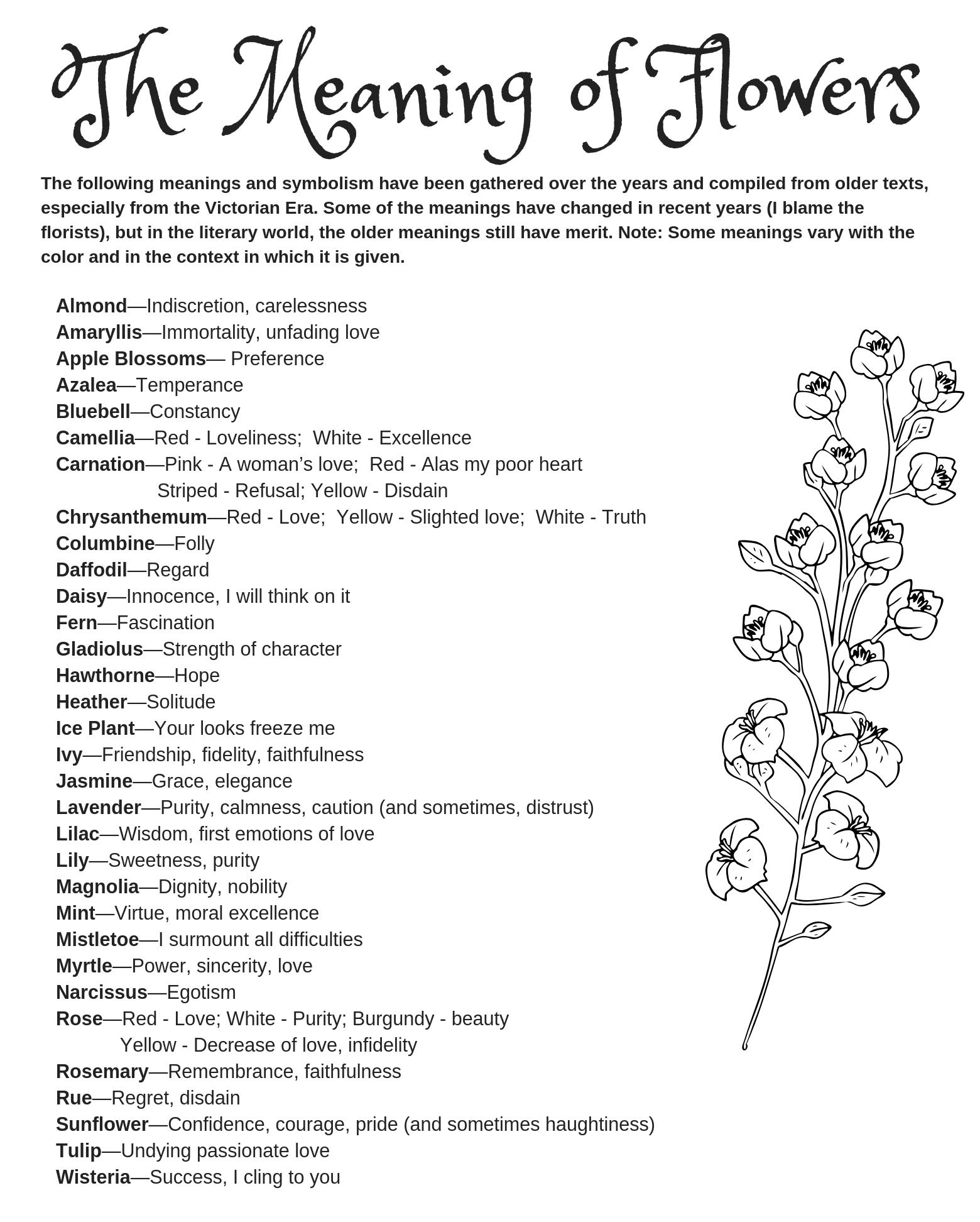 Symbolism of Flowers