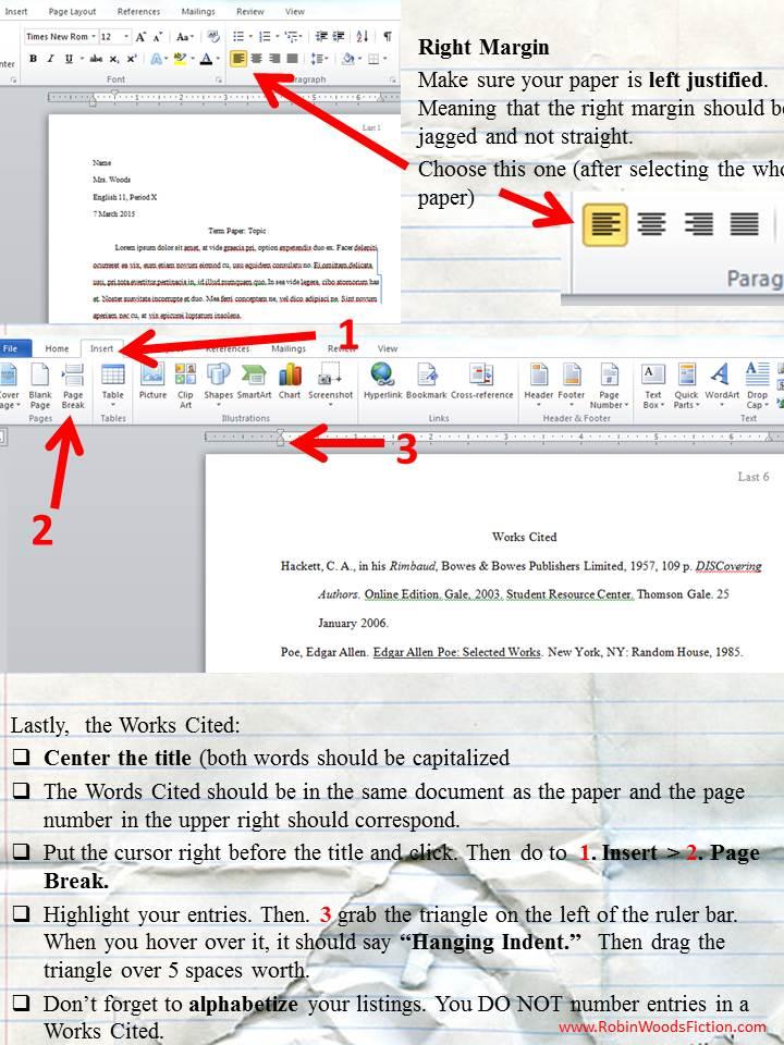 mla formatting instructions