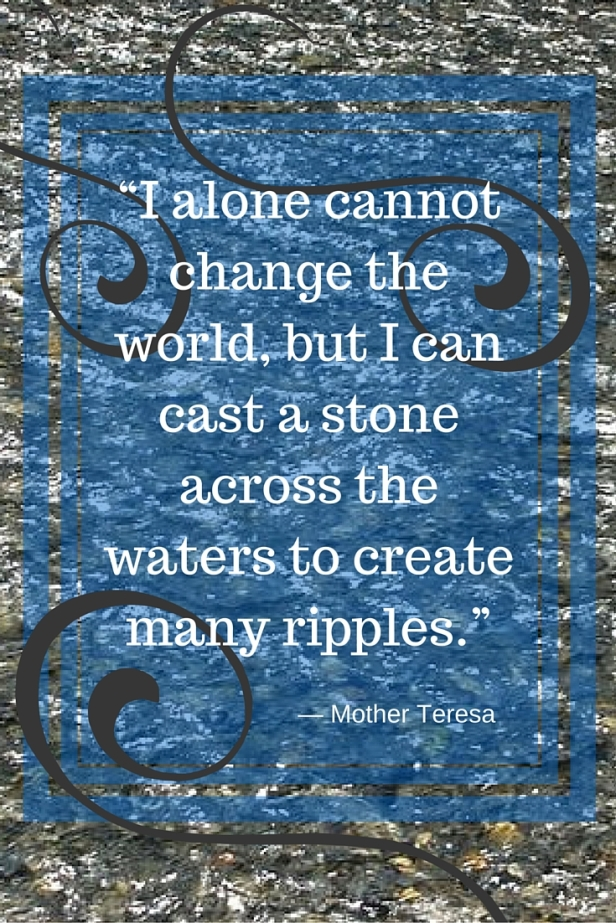 """""""I alone cannot change the world"""